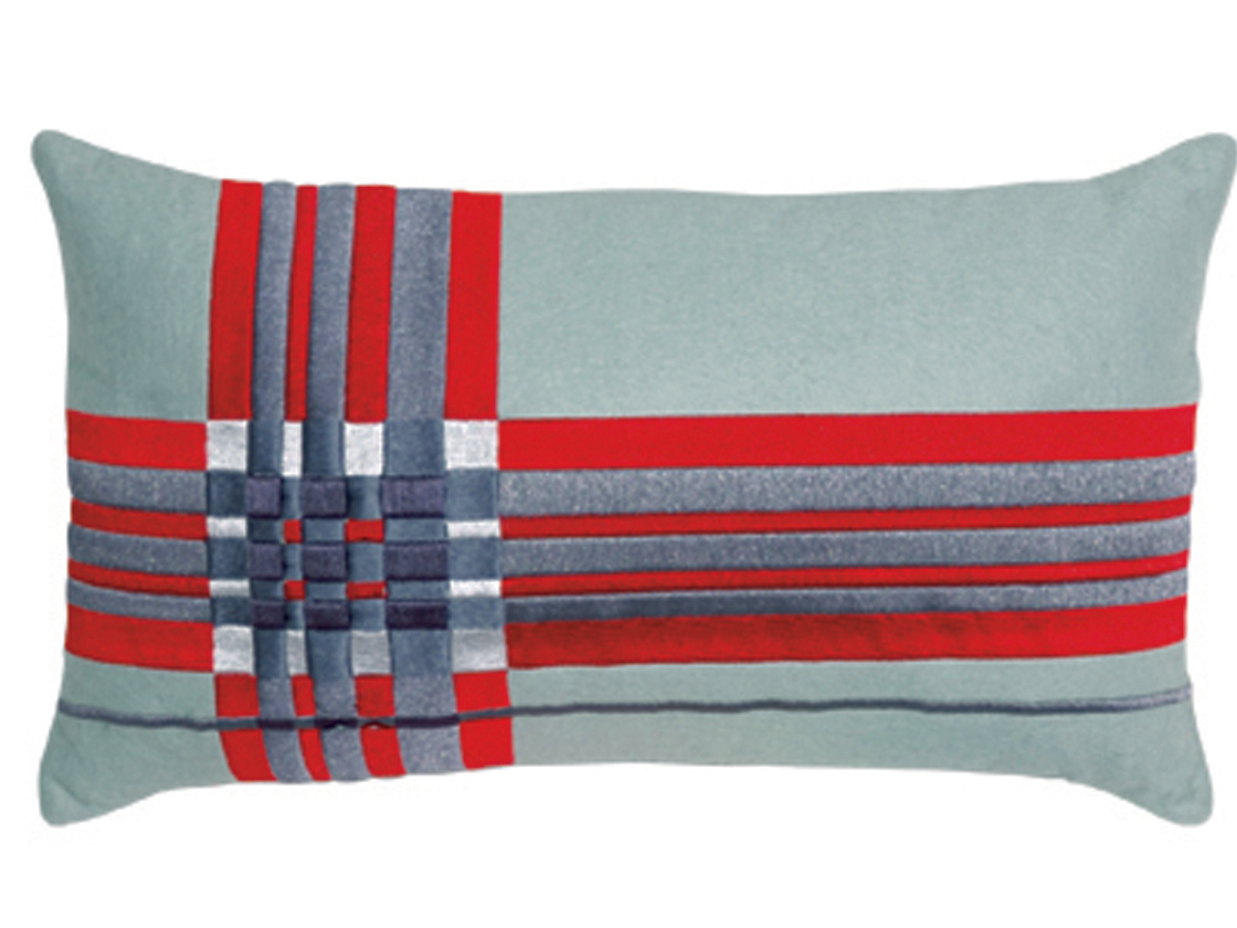 Coussin ginger gris rouge